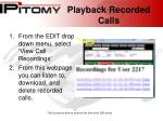playback recorded calls