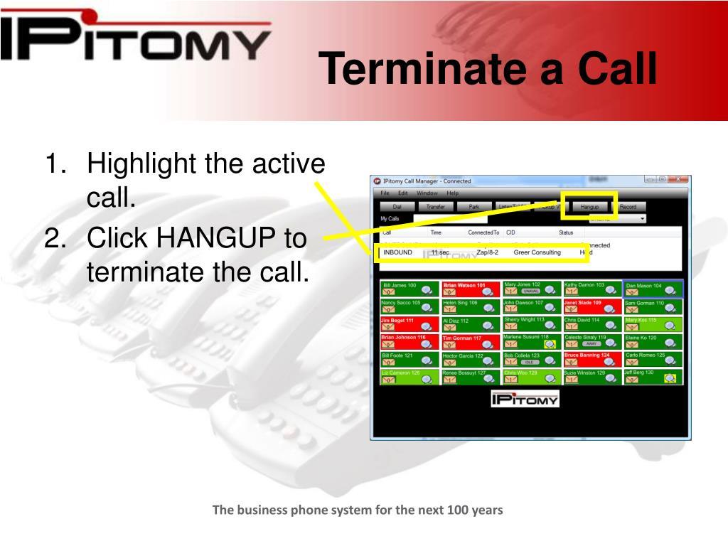 Terminate a Call