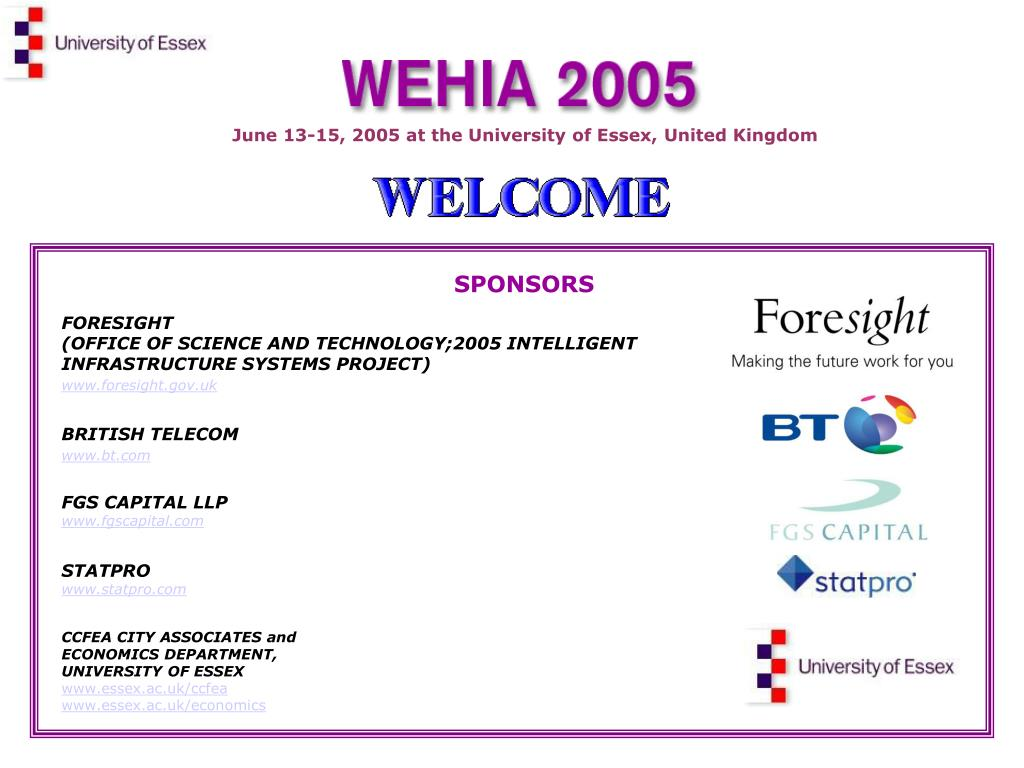 June 13-15, 2005 at the University of Essex, United Kingdom