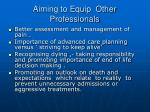 aiming to equip other professionals