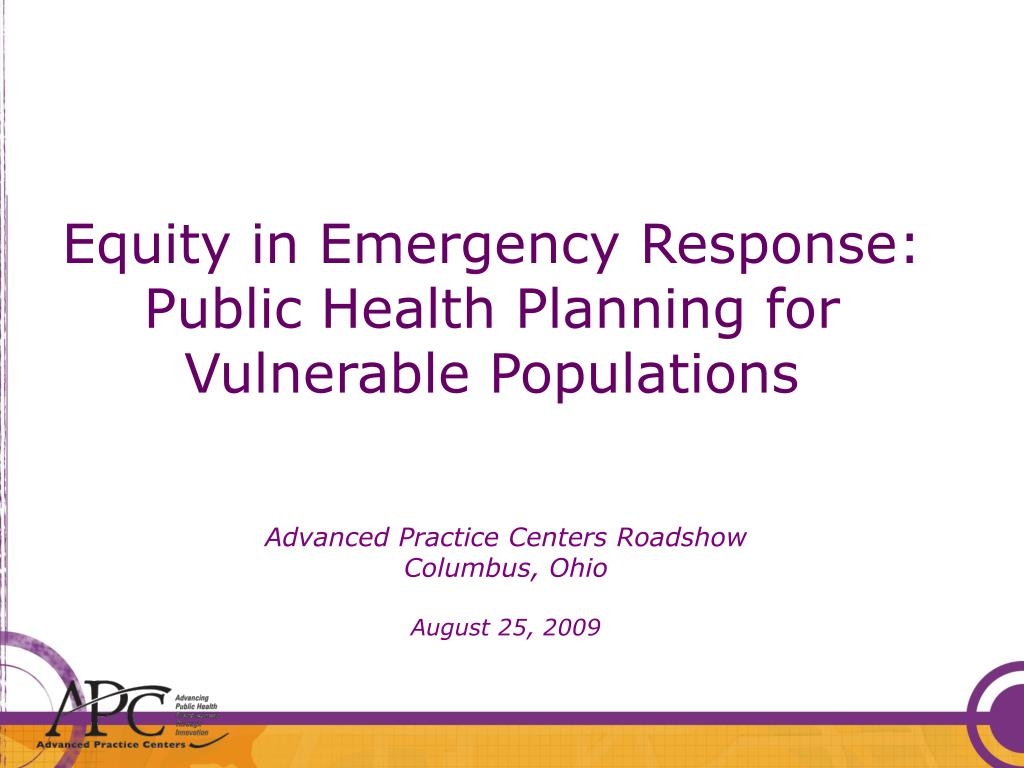 Equity in Emergency Response: