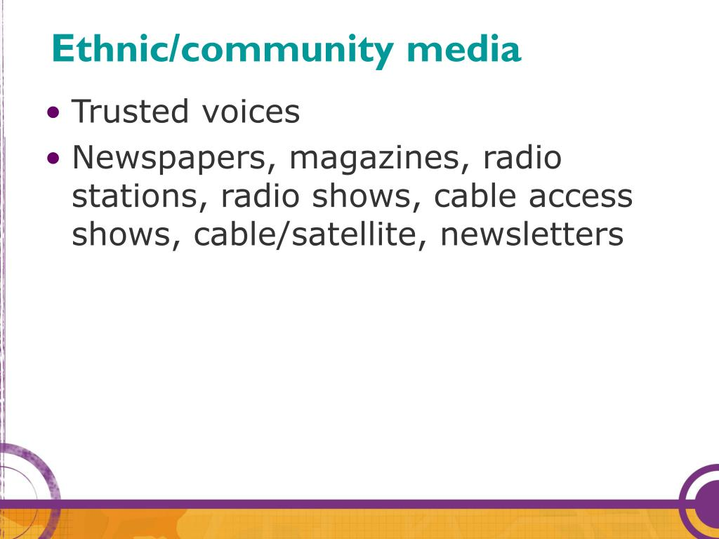 Ethnic/community media