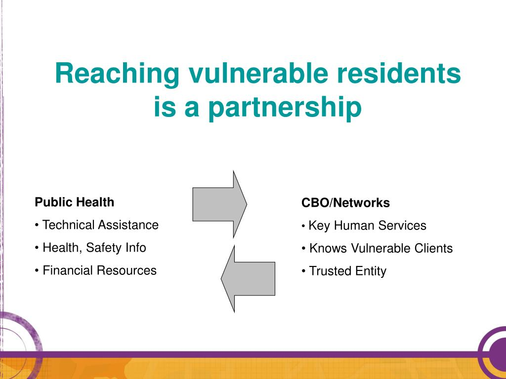 Reaching vulnerable residents
