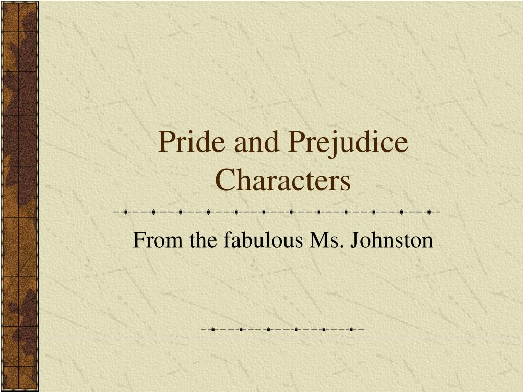 pride and prejudice characters