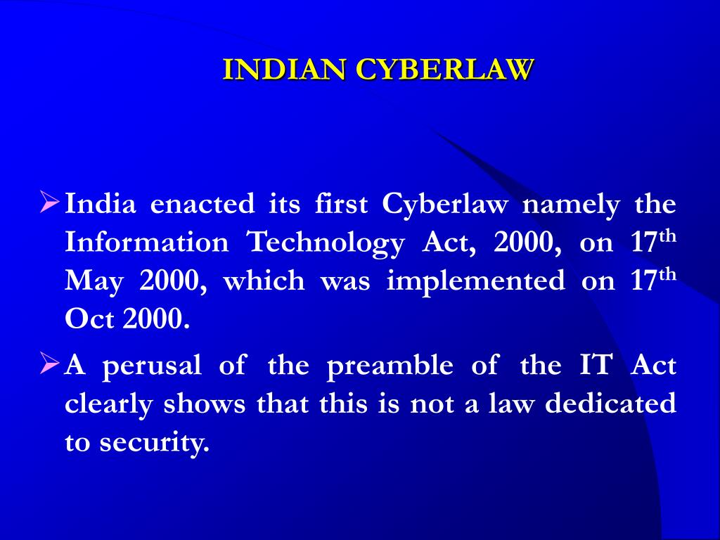 INDIAN CYBERLAW