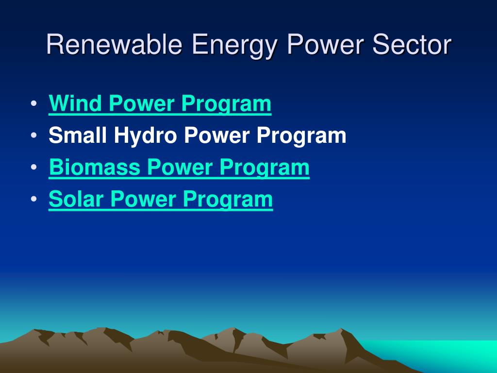 Renewable Energy Power Sector