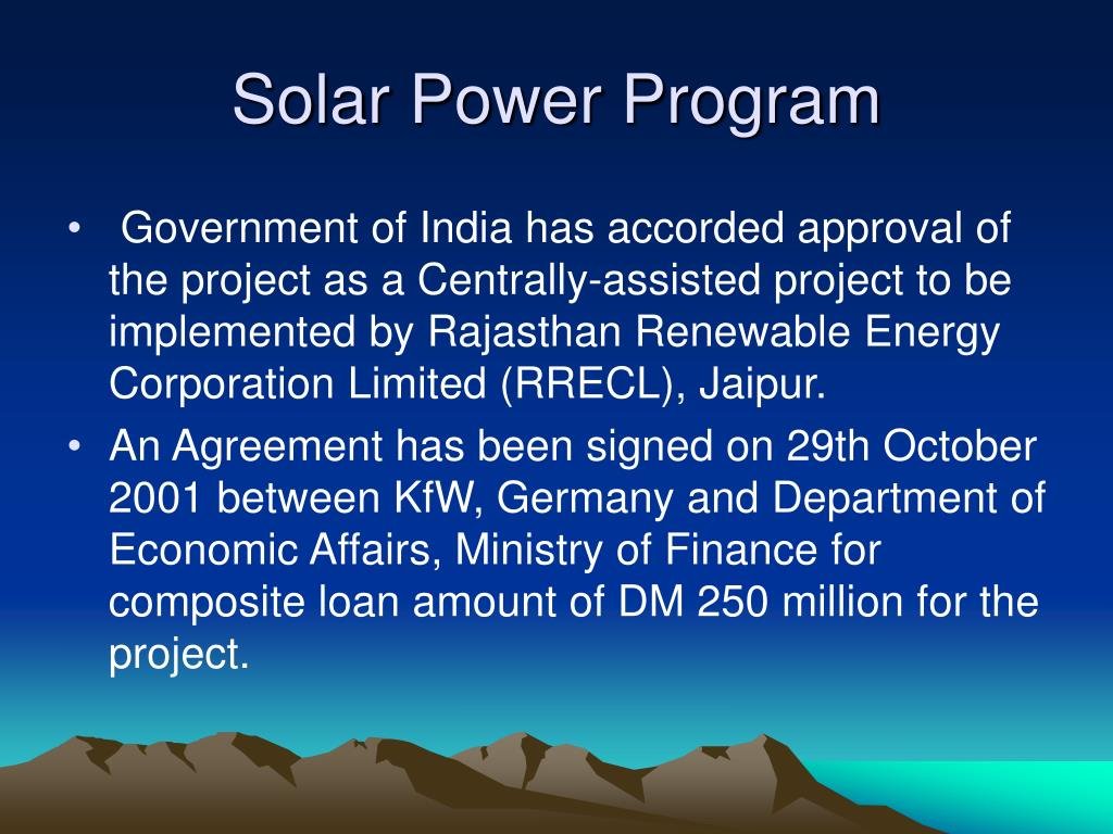 Solar Power Program