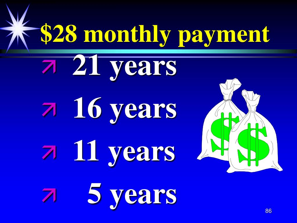 $28 monthly payment