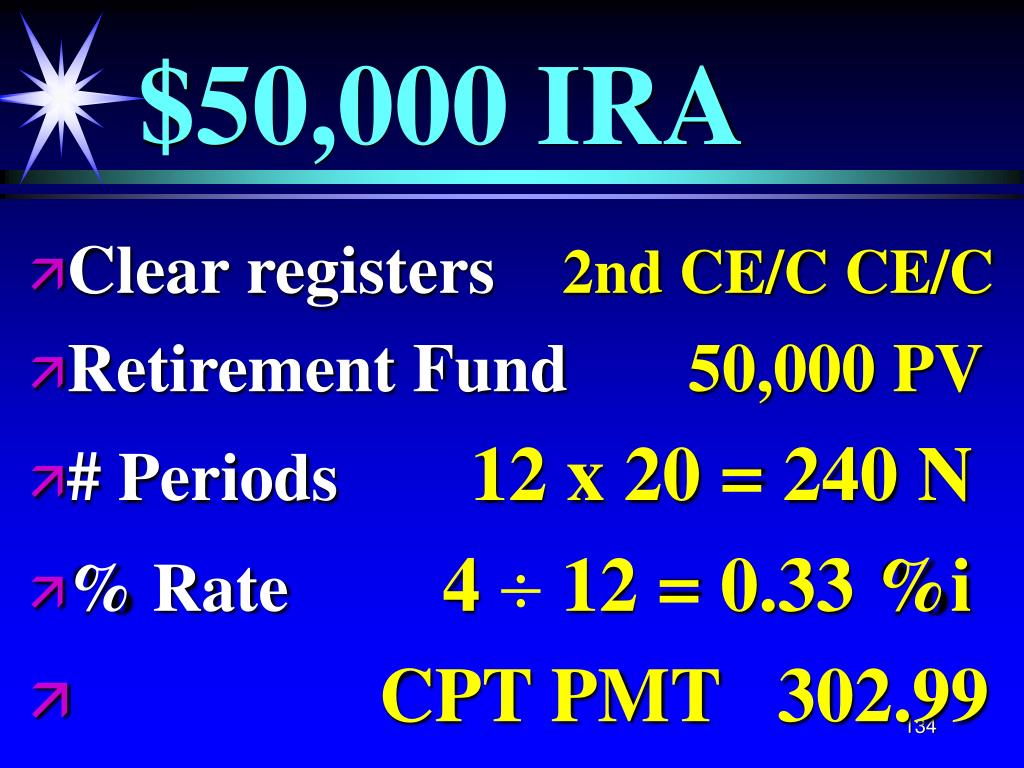 $50,000 IRA