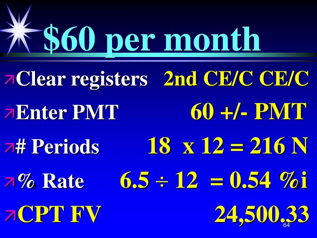 $60 per month
