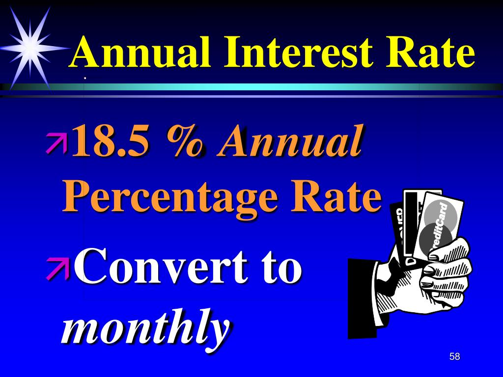 Annual Interest Rate
