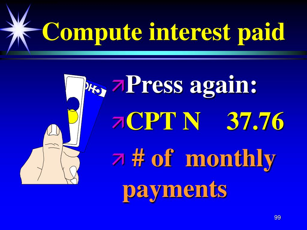Compute interest paid