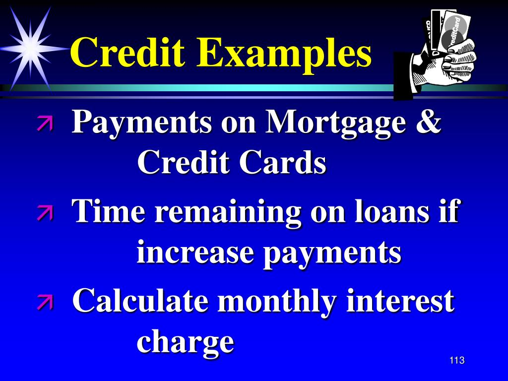 Credit Examples