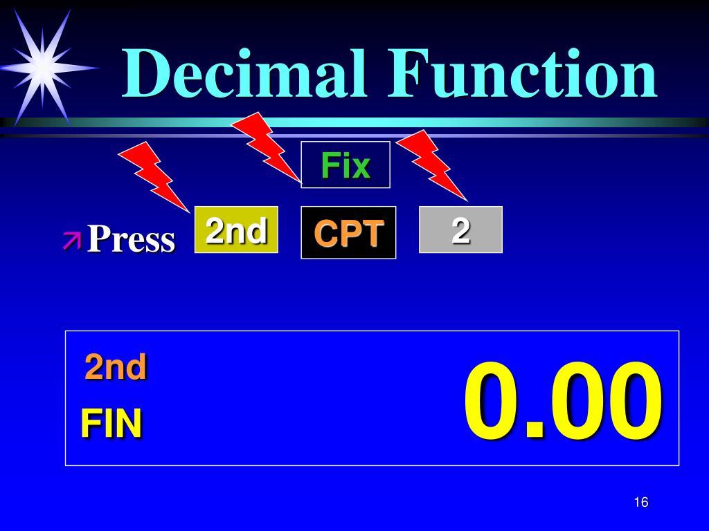 Decimal Function