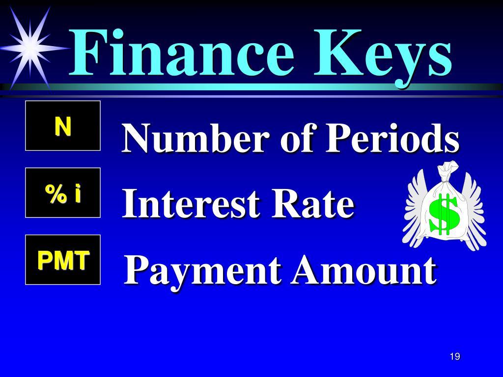 Finance Keys