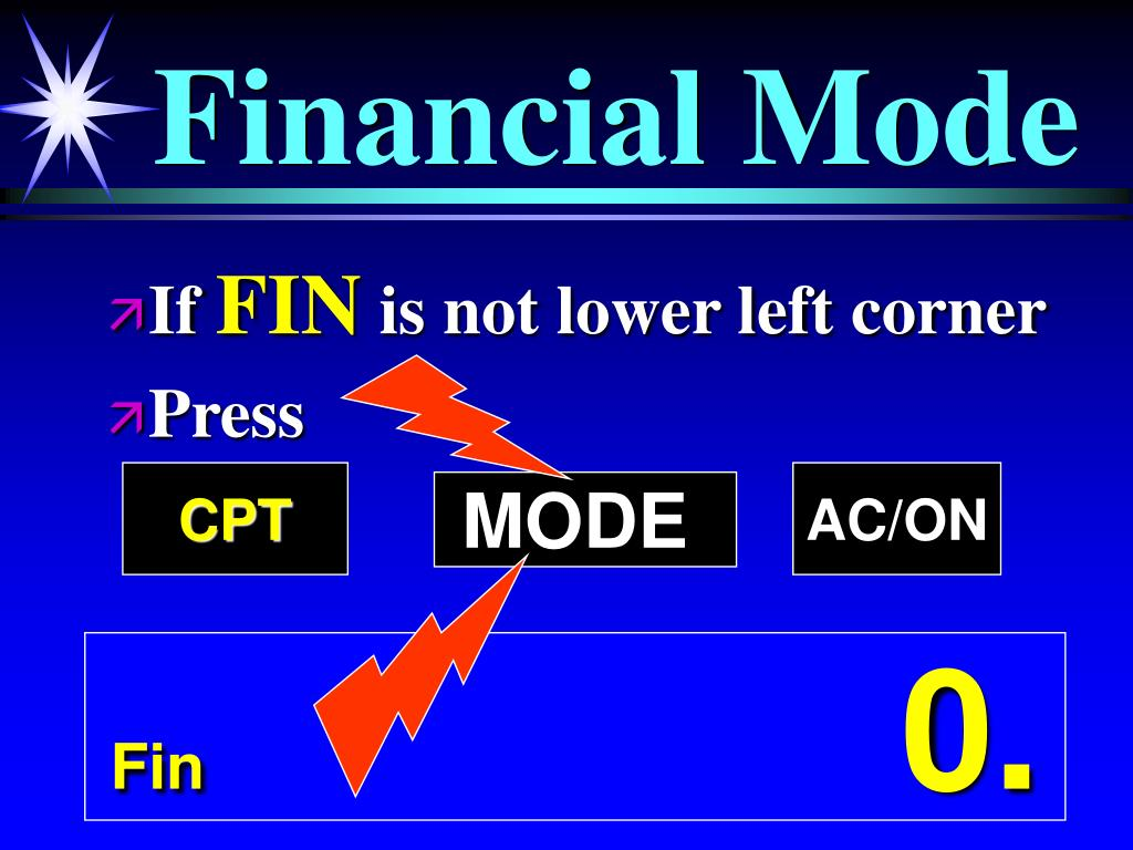 Financial Mode