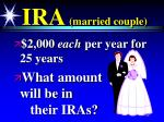 ira married couple