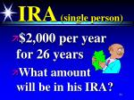 ira single person