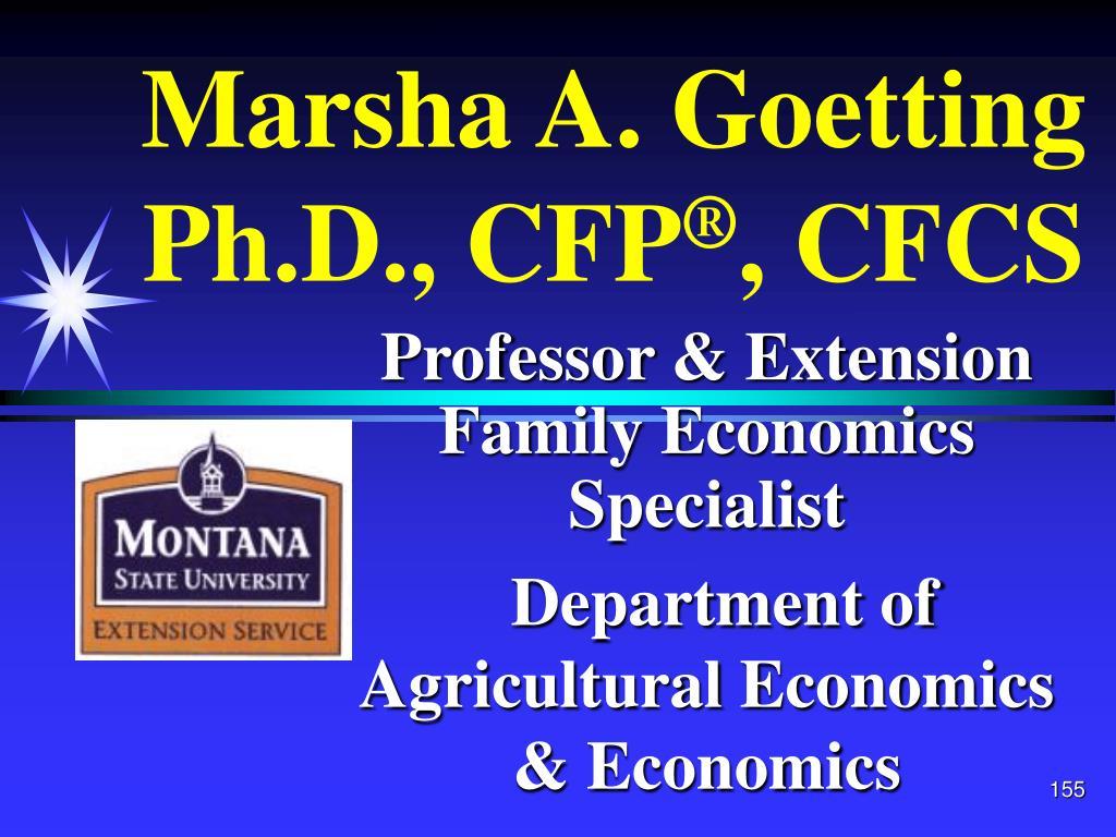 Marsha A. Goetting