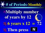 of periods monthly