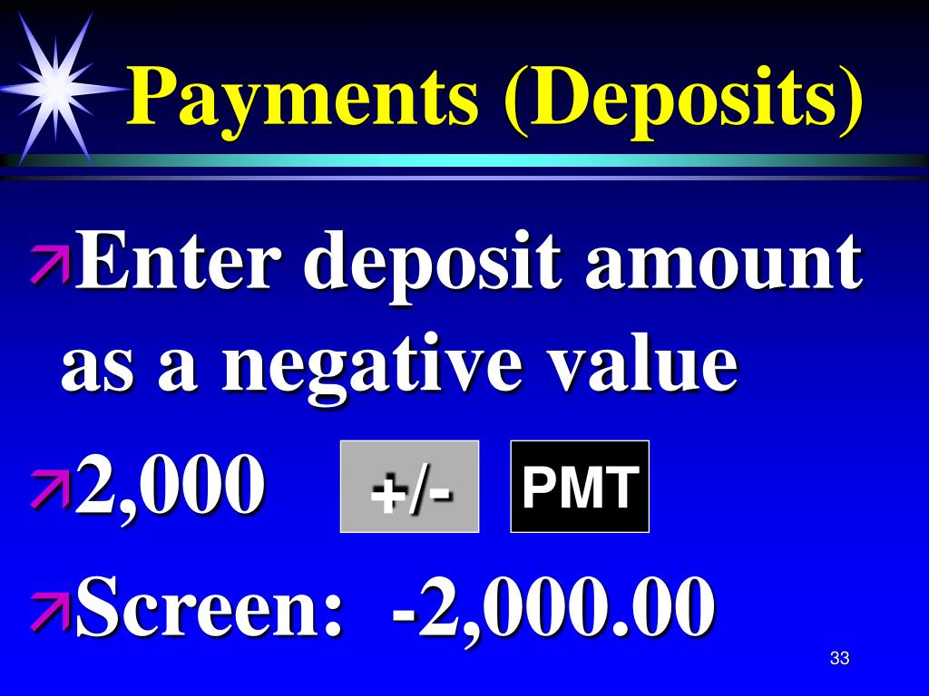 Payments (Deposits)