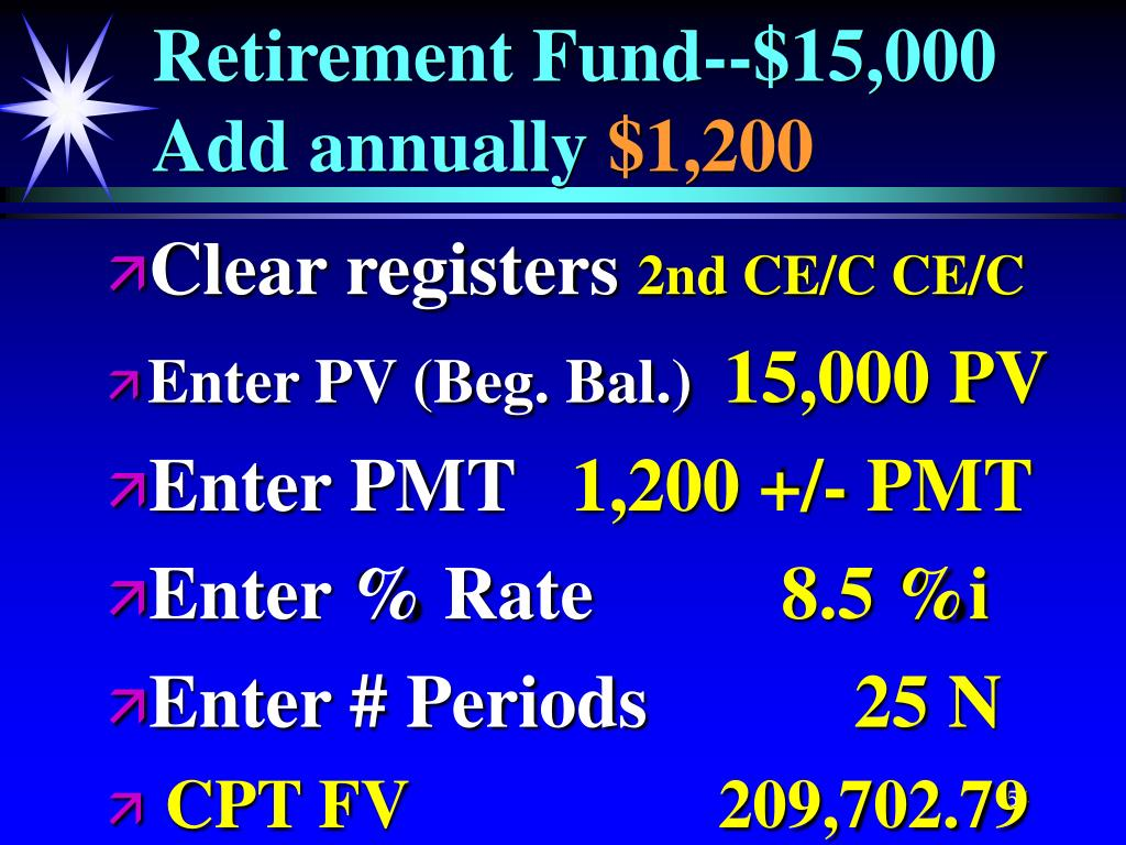 Retirement Fund--$15,000 Add annually