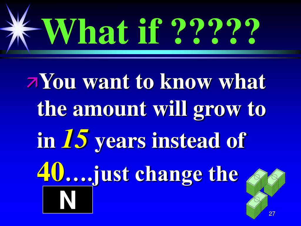 What if ?????