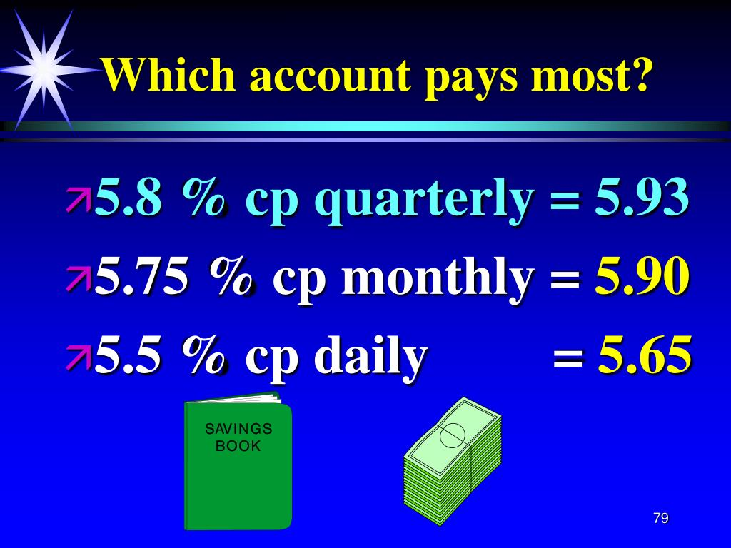 Which account pays most?