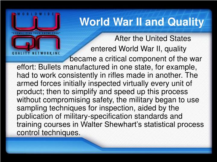 World War II and Quality