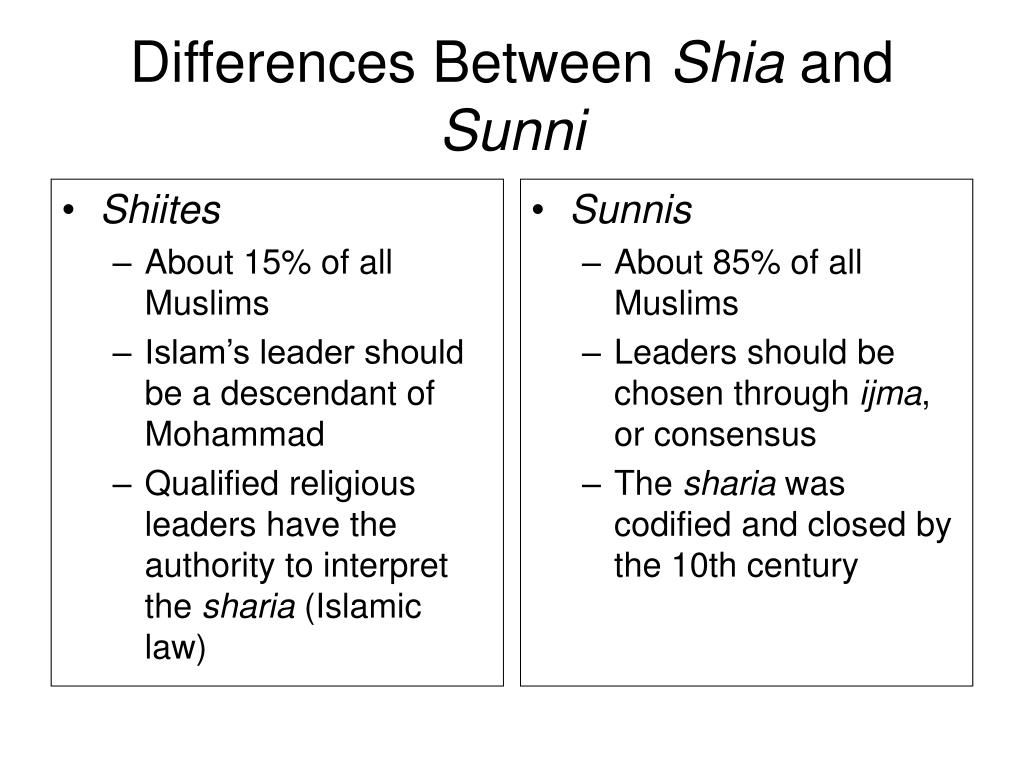 sunni and shii influences that defined Encyclopedia of religion the umma is in fact defined by a common pattern of worship no more than the sunni and shii divisions do the different legal.