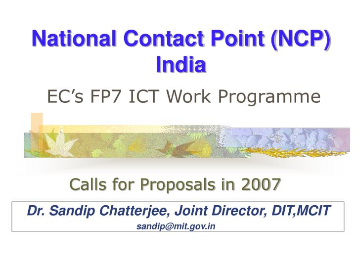 National contact point ncp india