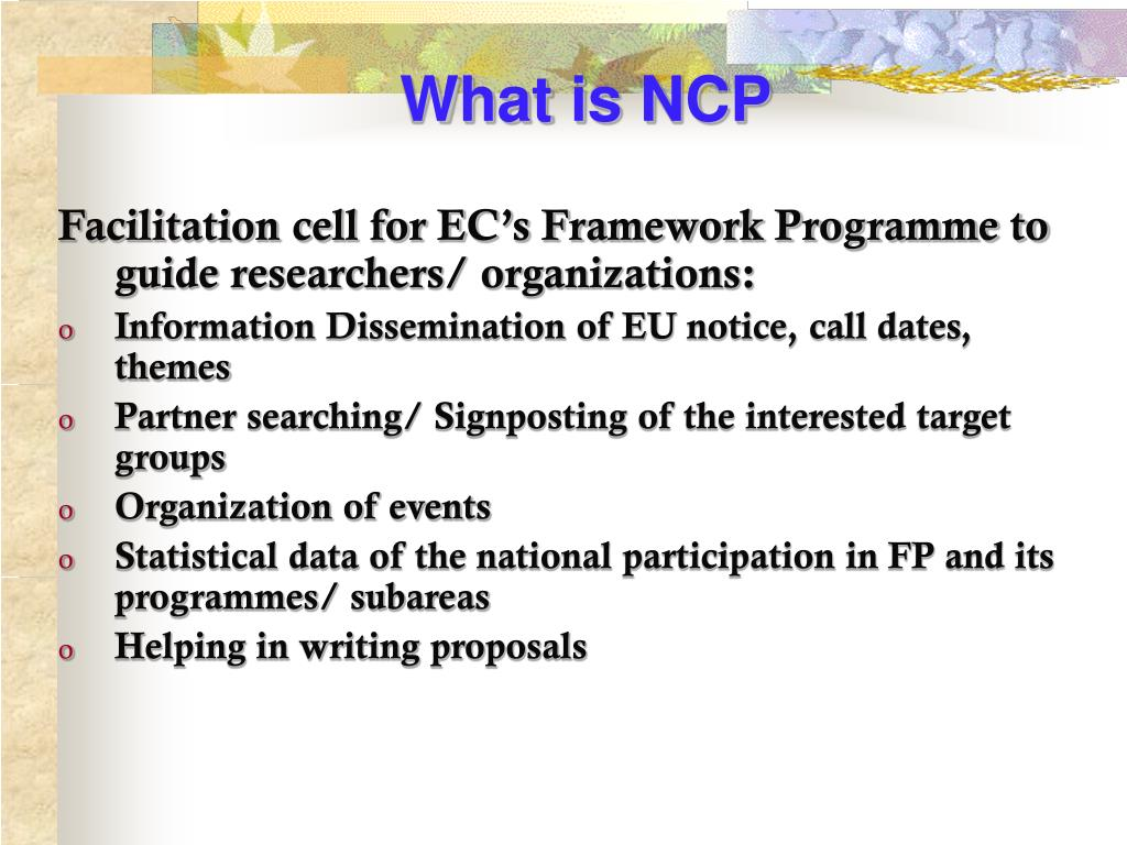 What is NCP