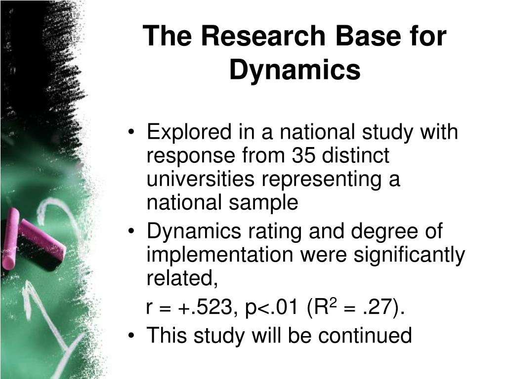 The Research Base for Dynamics
