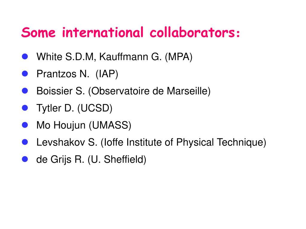 Some international collaborators