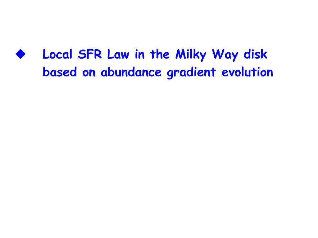 Local SFR Law in the Milky Way disk based on abundance gradient evolution