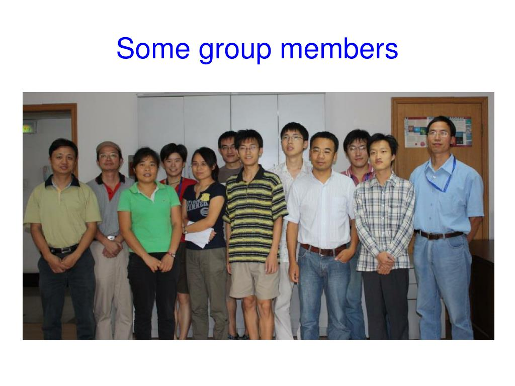 Some group members