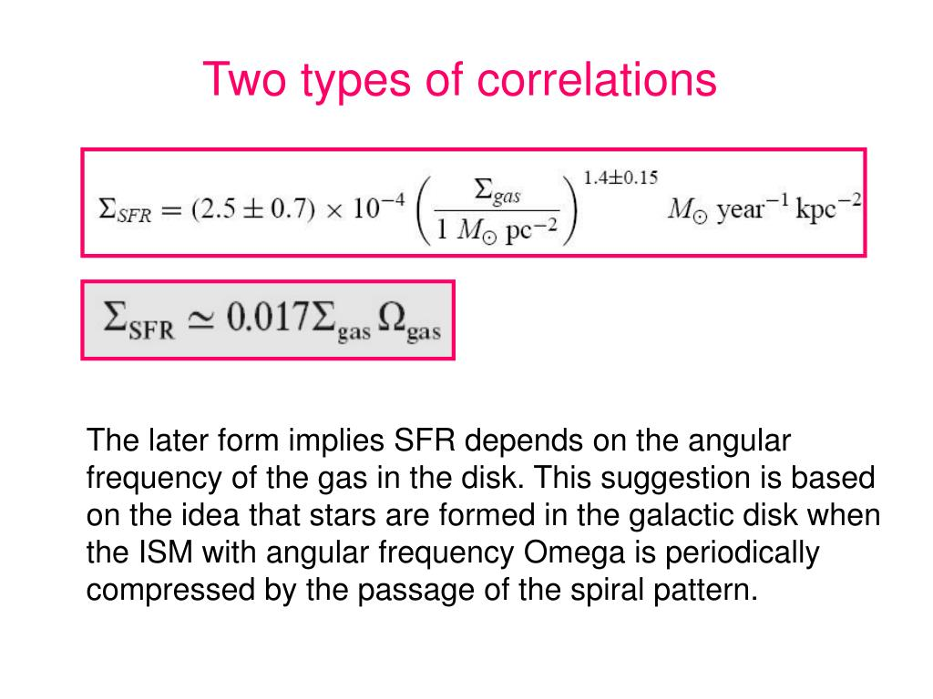 Two types of correlations