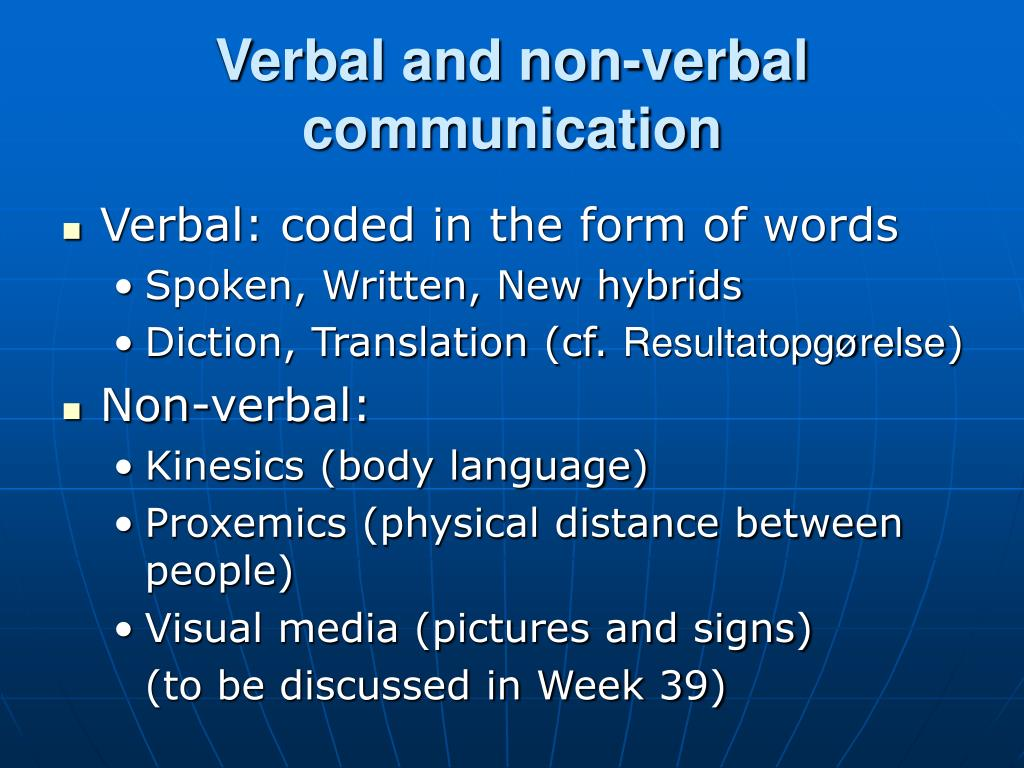 explanation of verbal and non verbal communication english language essay Cultural anthropology/communication and language non-verbal communication is different from person to the english language is.