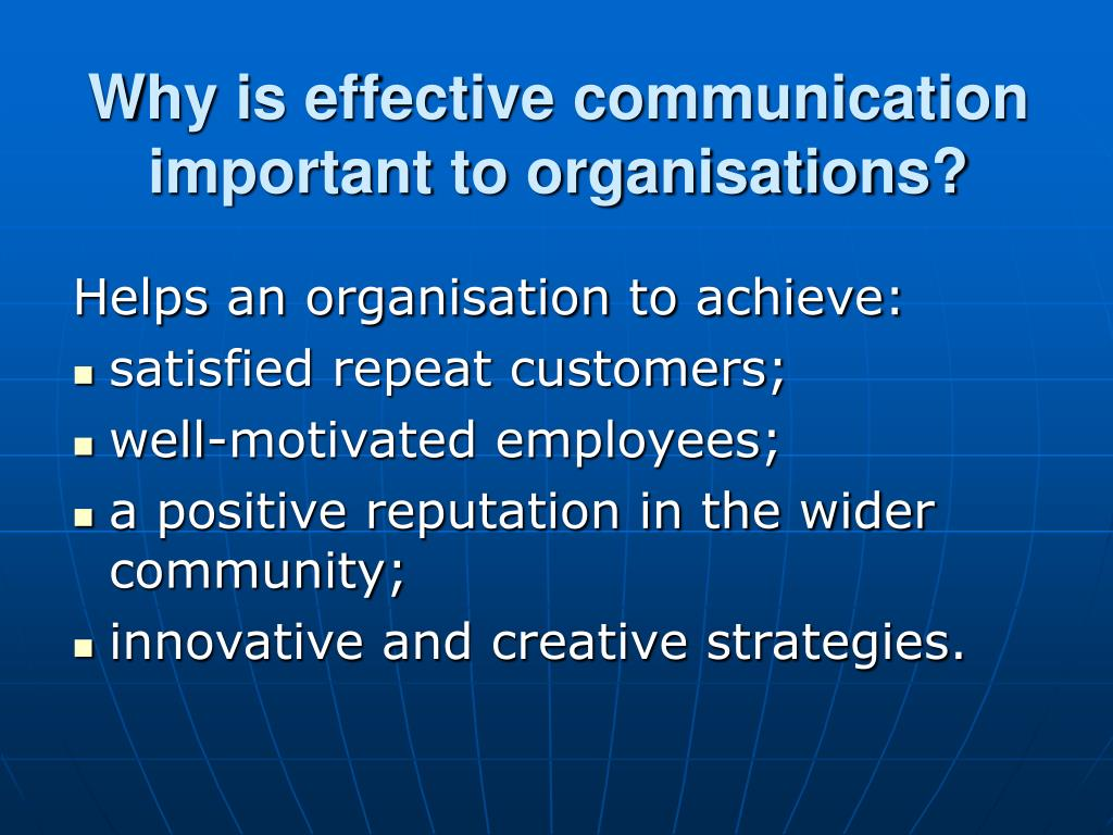 effective communication in organisations pdf