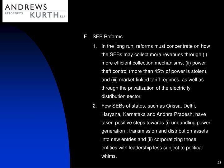 SEB Reforms