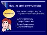 how the spirit communicates