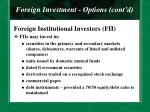foreign investment options cont d22