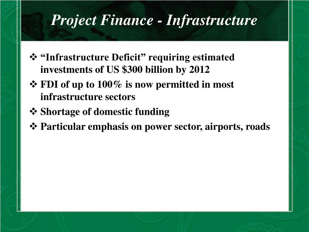 Project Finance - Infrastructure