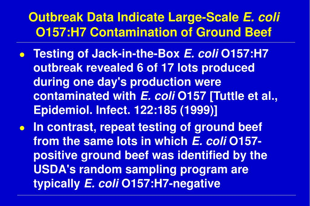 Outbreak Data Indicate Large-Scale