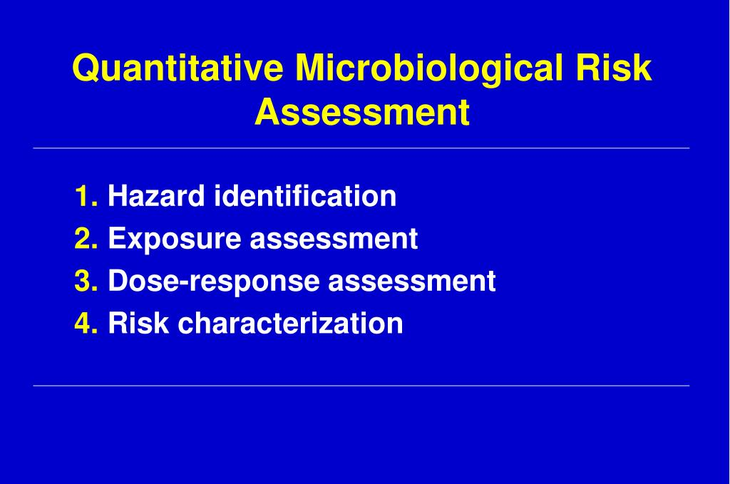 Quantitative Microbiological Risk Assessment