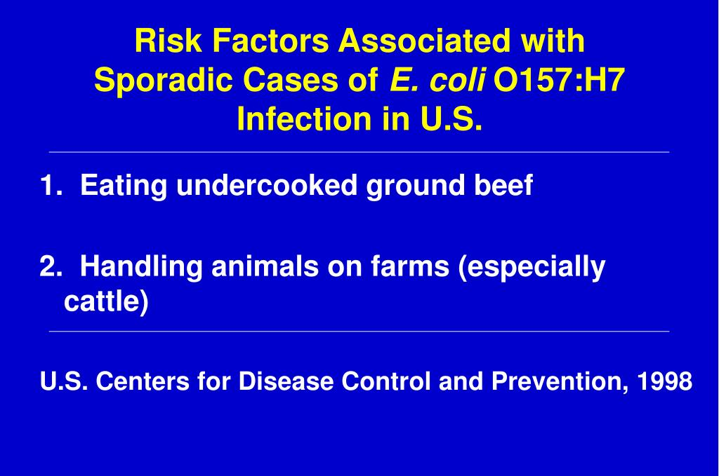 Risk Factors Associated with Sporadic Cases of