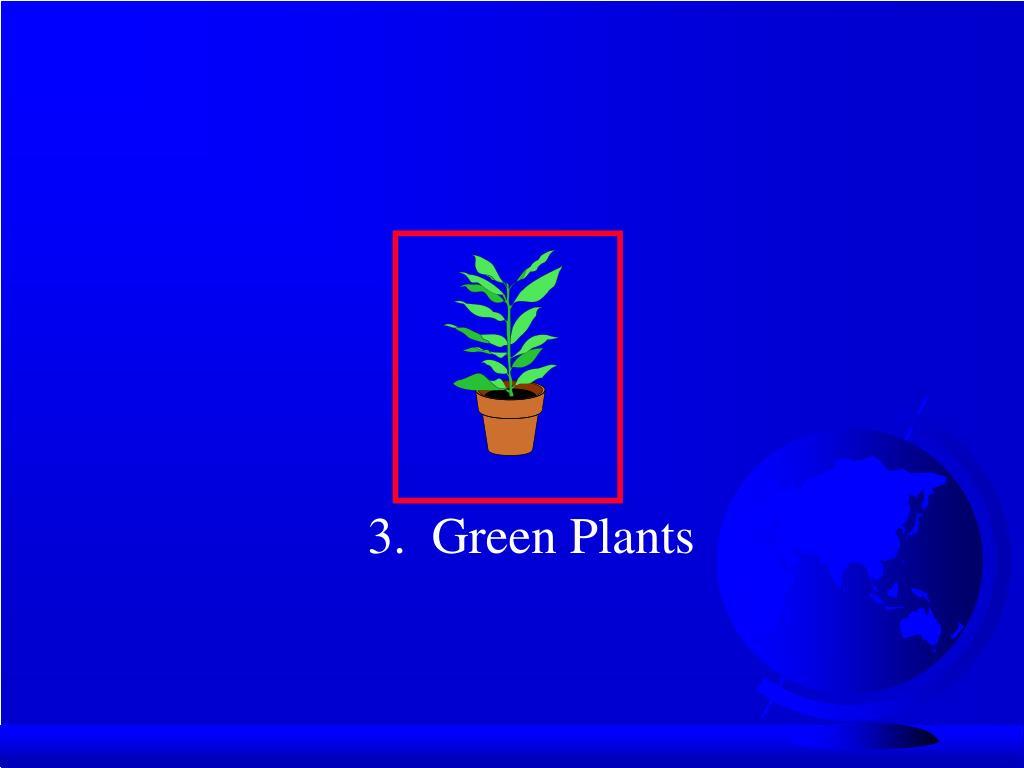 3.  Green Plants