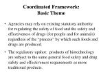 coordinated framework basic theme