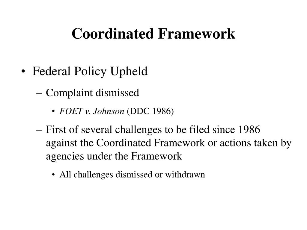 Coordinated Framework