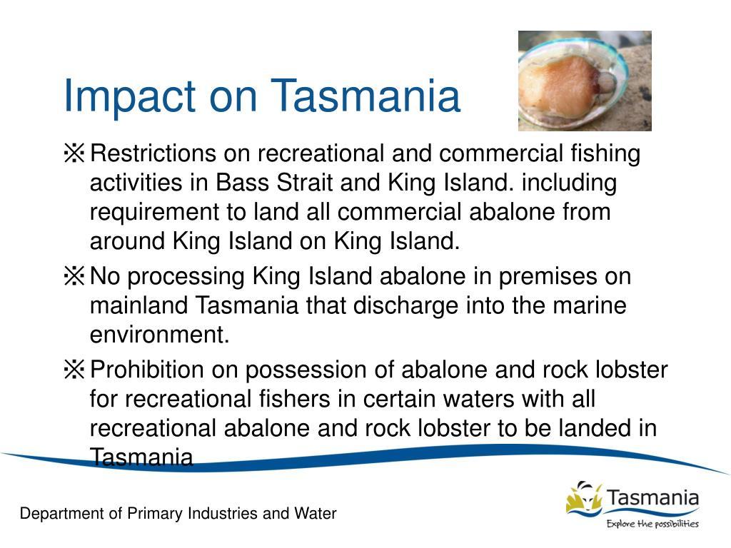 Impact on Tasmania